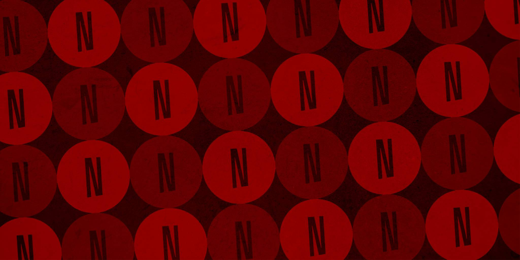 abstract art of the netflix logo