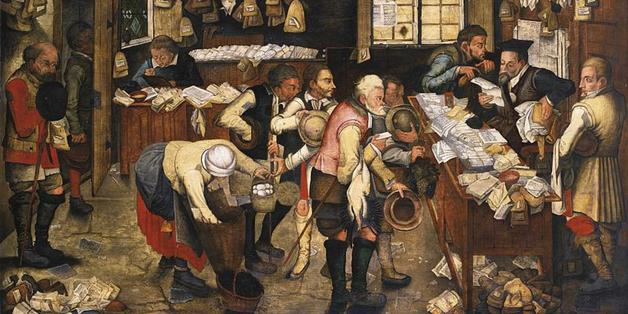 File:Pieter Brueghel the Younger - The Village Lawyer's office.jpg - Wikimedia Commons
