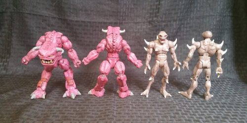 Photo of some custom DOOM figures.