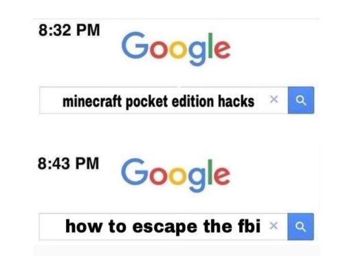 minecraft hacks google meme