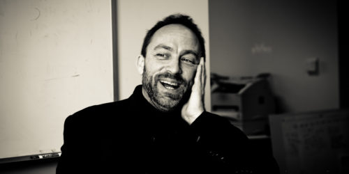 All sizes | Jimmy Wales - candid B&W | Flickr - Photo Sharing!