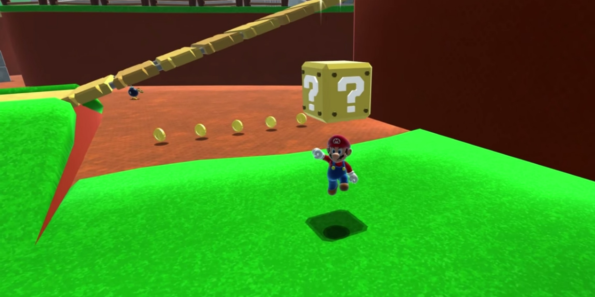 Screengrab from a YouTube video of a Super Mario 64 HD remix.