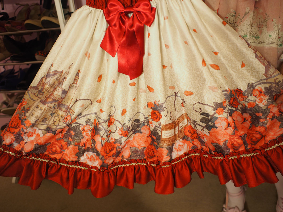 A better look at the details of a Lolita dress