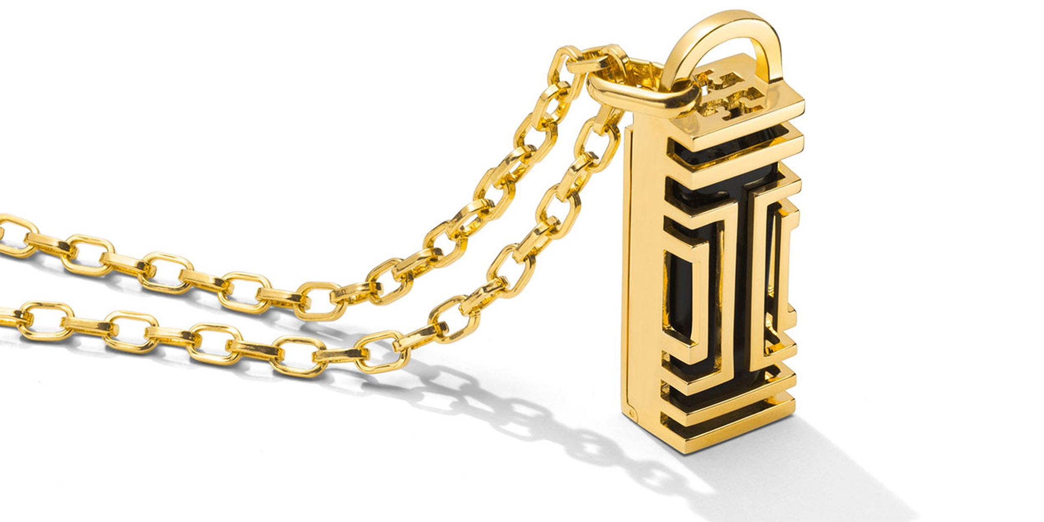 Tory Burch for Fitbit Metal Fret Pendant
