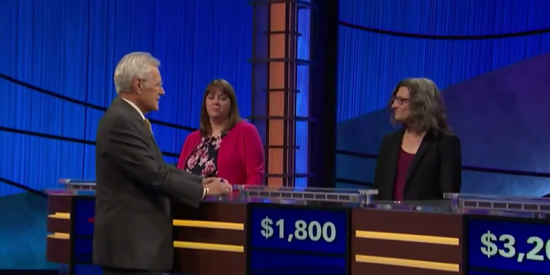 Alex Trebek is under fire on Twitter for making a sexist comment to a 'Jeopardy!' contestant.