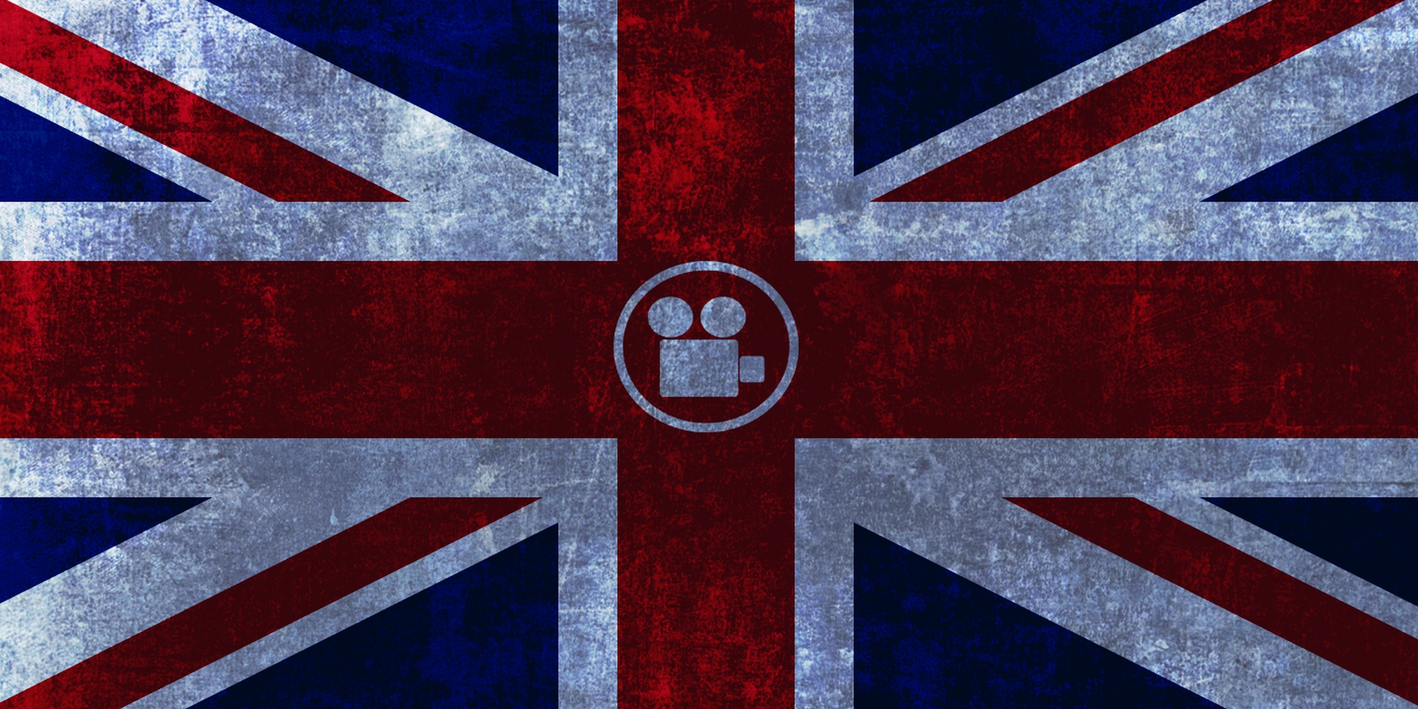 uk flag with camera icon in the center