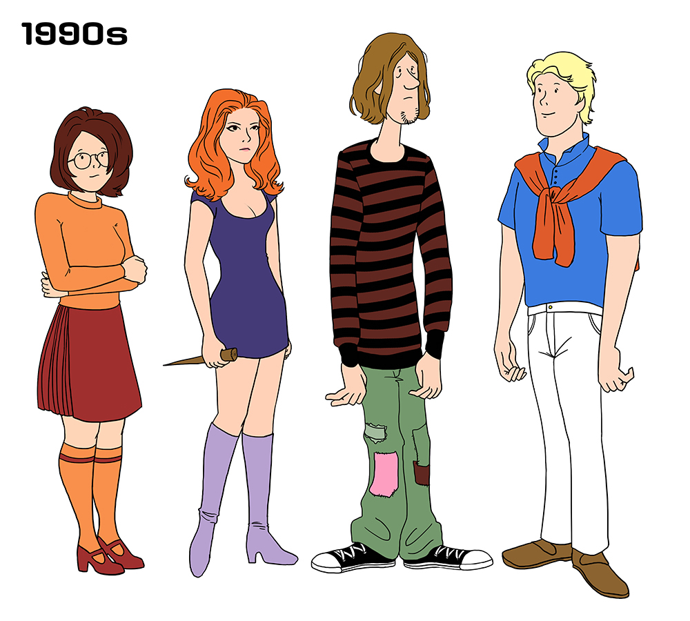 Scooby Gang Fanart Imagines The Stylish Outfits They 39 D Sport In Various Decades The Daily Dot