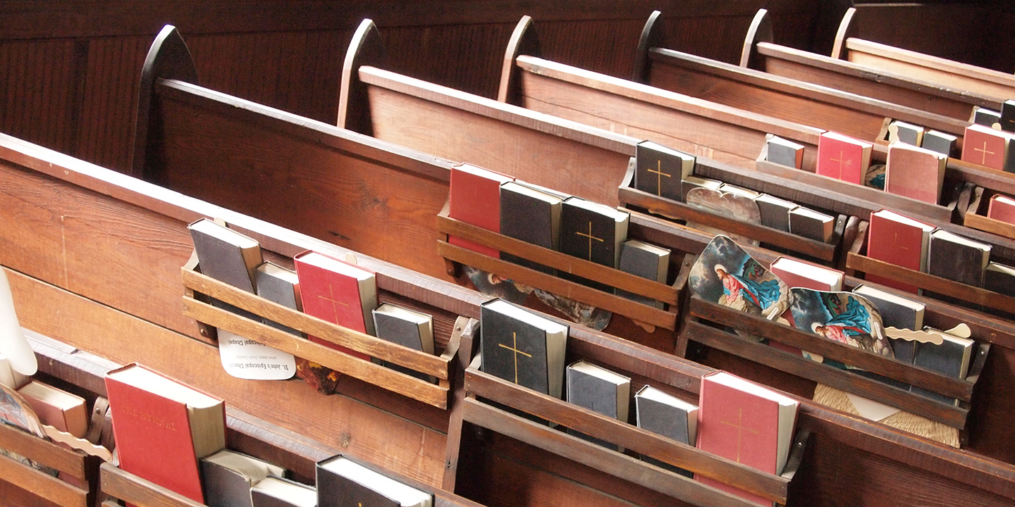 Church Pews with Bibles