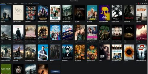 screenshot of popcorn time homepage