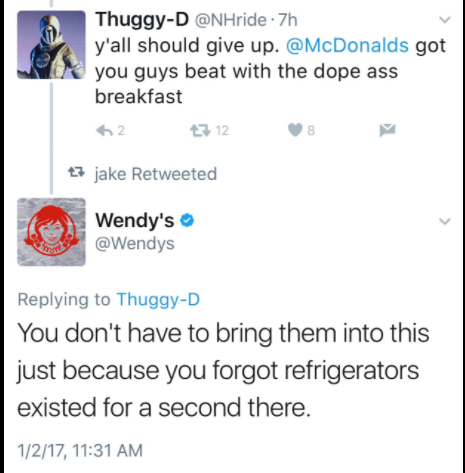 Wendys Backs Up Fresh Motto With Cold Burn On Twitter - 24 hilarious comebacks wendys twitter account