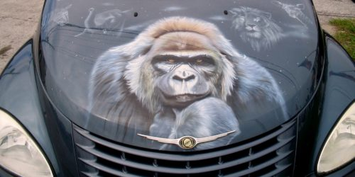 Gorilla art on PT Cruiser