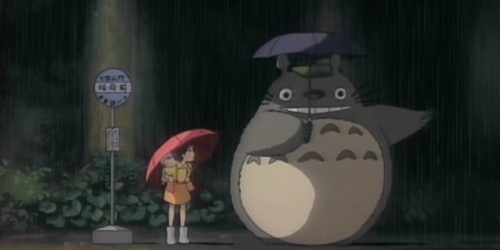 totoro at bus stop