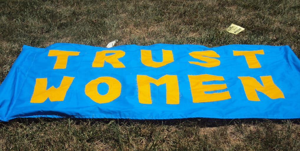 Trust women sign