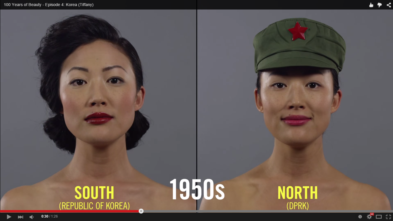 Watch North And South Korean Beauty Trends Diverge Over Time The