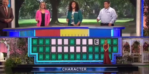 Screengrab from Wheel of Fortune