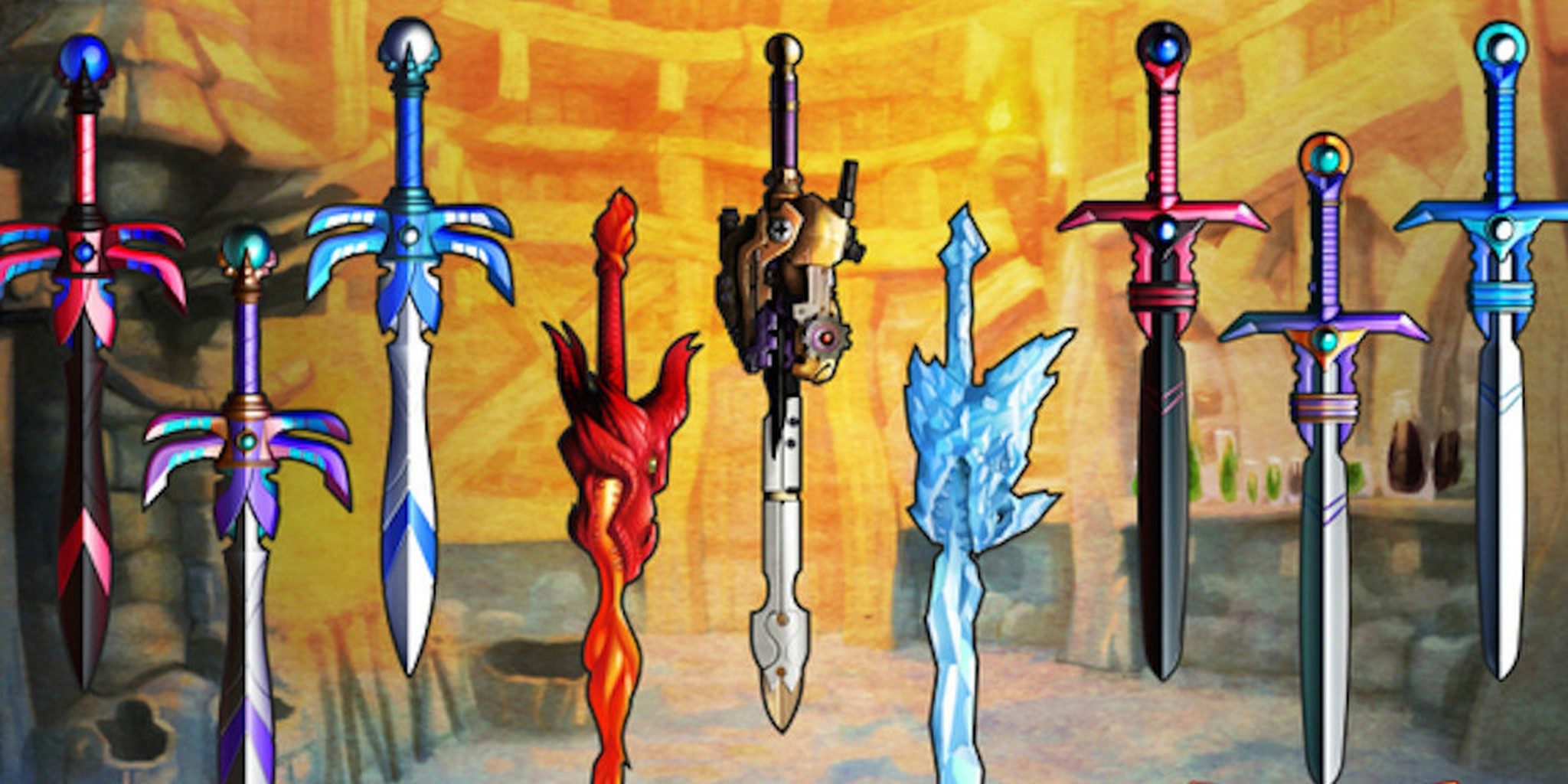This dad makes the most awesome toy swords ever