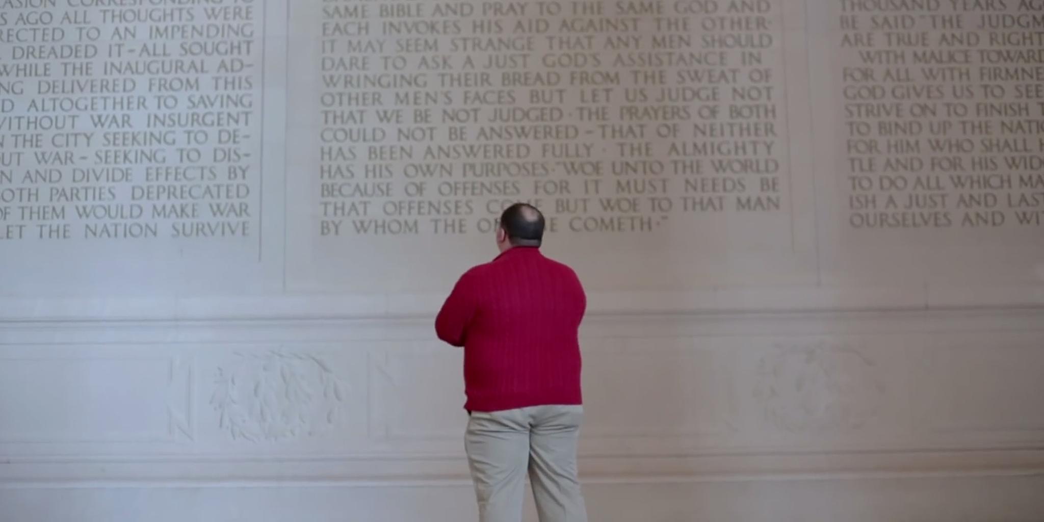 Ken Bone at Lincoln Memorial