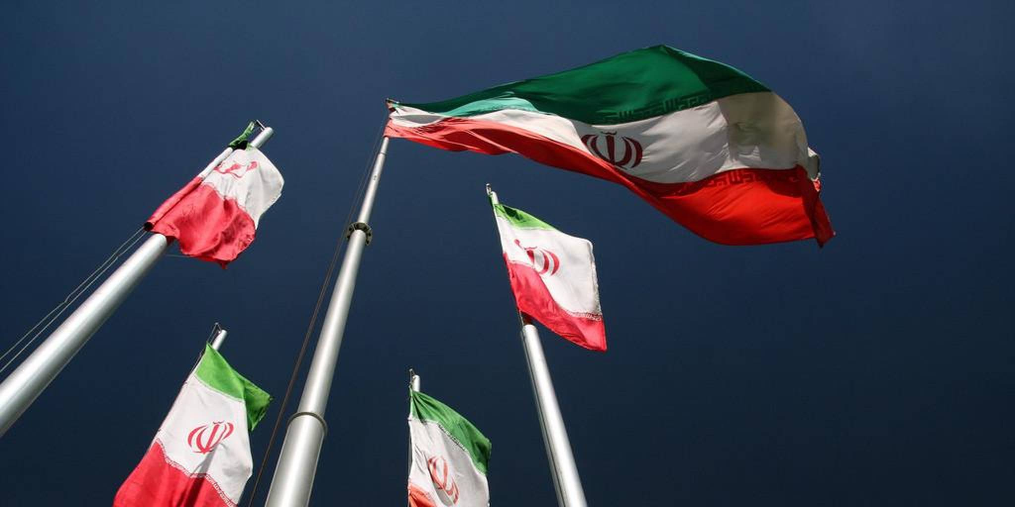 Iranian flags in wind