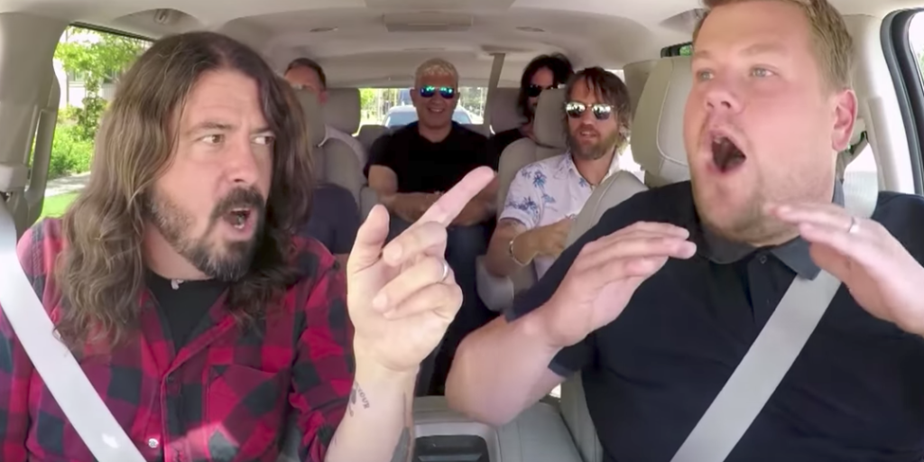carpool karaoke foo fighters