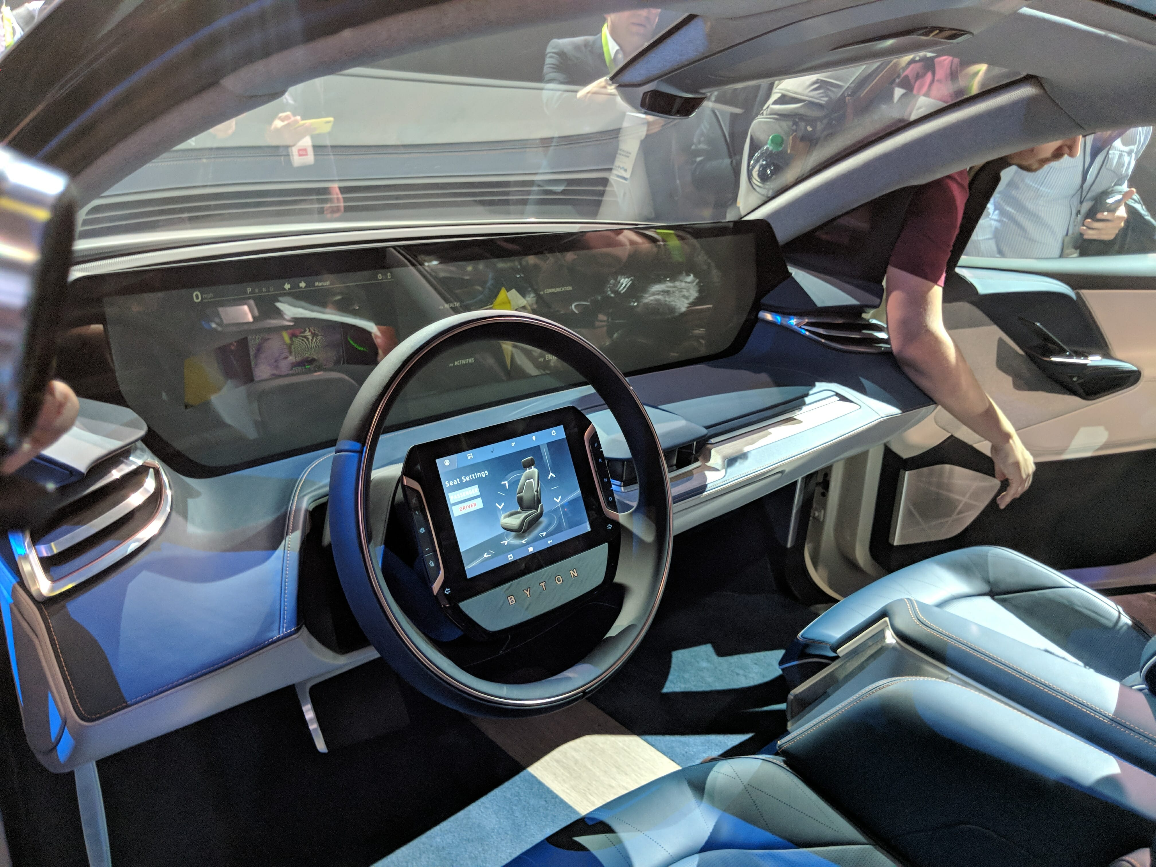 byton interior electric car self-driving display