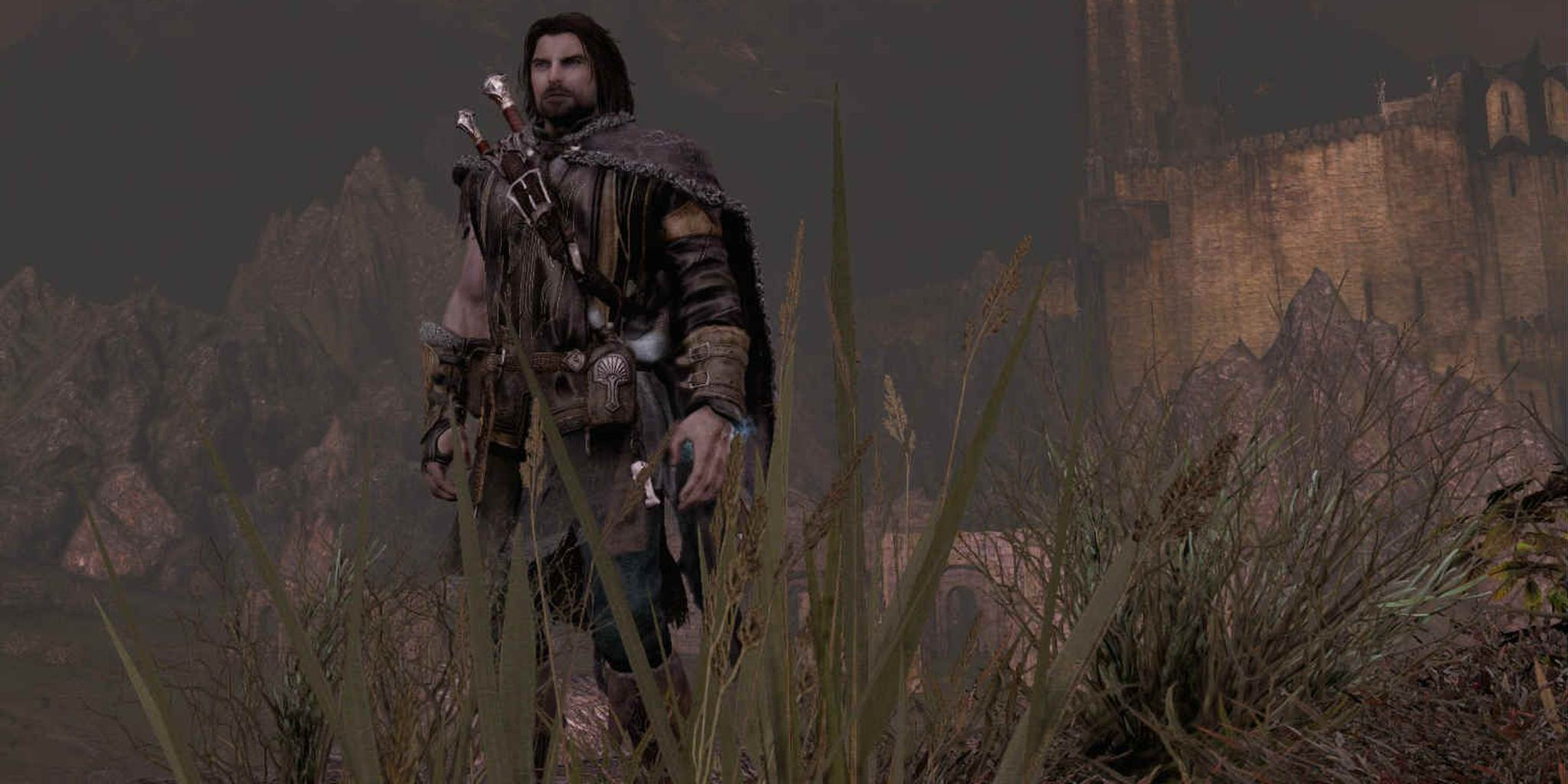 A screenshot of Talion, the hero of Middle-earth: Shadow of Mordor