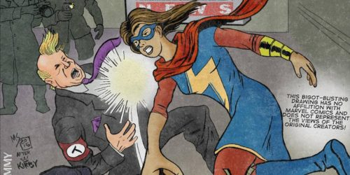 Ms Marvel punches Trump