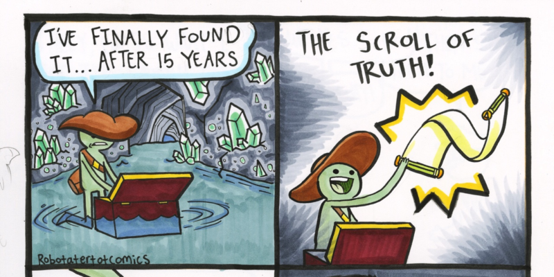 the scroll of truth comic by tate parker