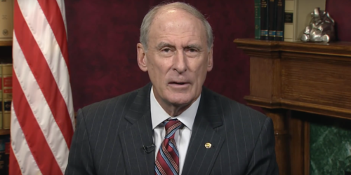 Dan Coats delivers recorded address as senator