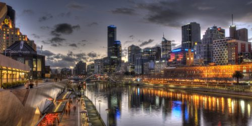 Dusk over City of Melbourne