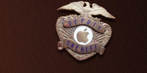 Apple logo in Sheriff's badge
