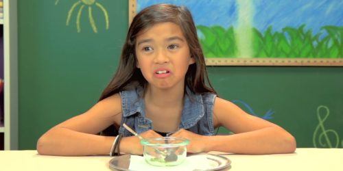 Little Girl Making Disgusted Face
