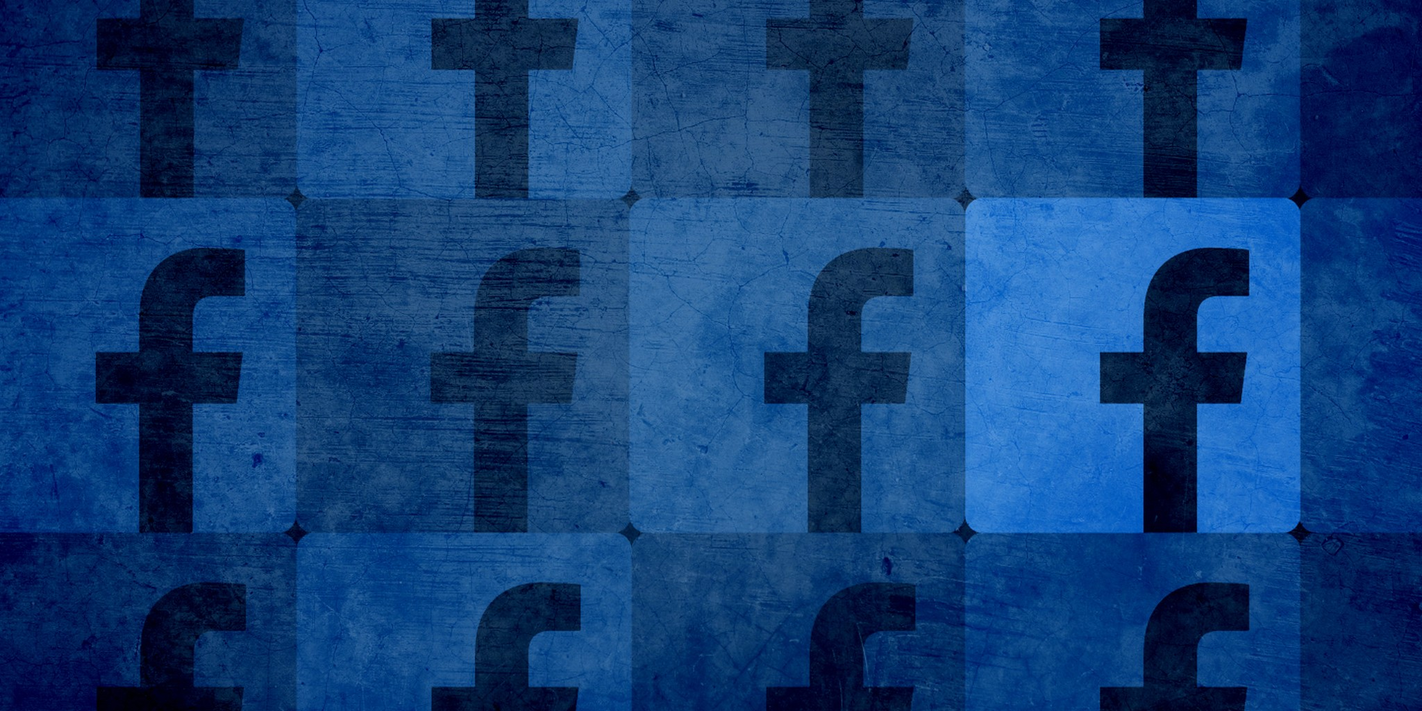 abstract art of facebook logo
