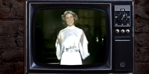 Carrie Fisher as Princess Leia on SNL