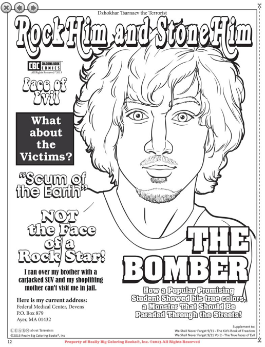 Boston Bomber Coloring Book Page