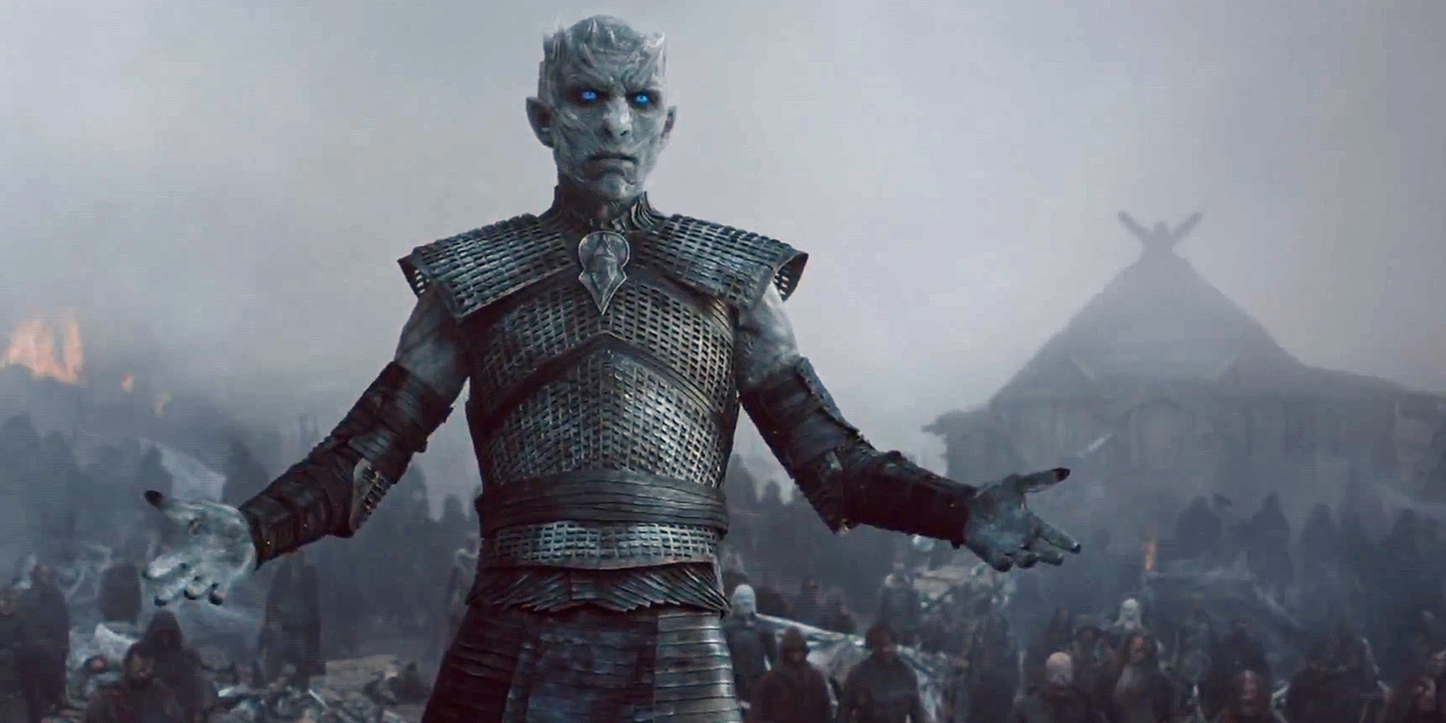 White Walker leader raises his arms