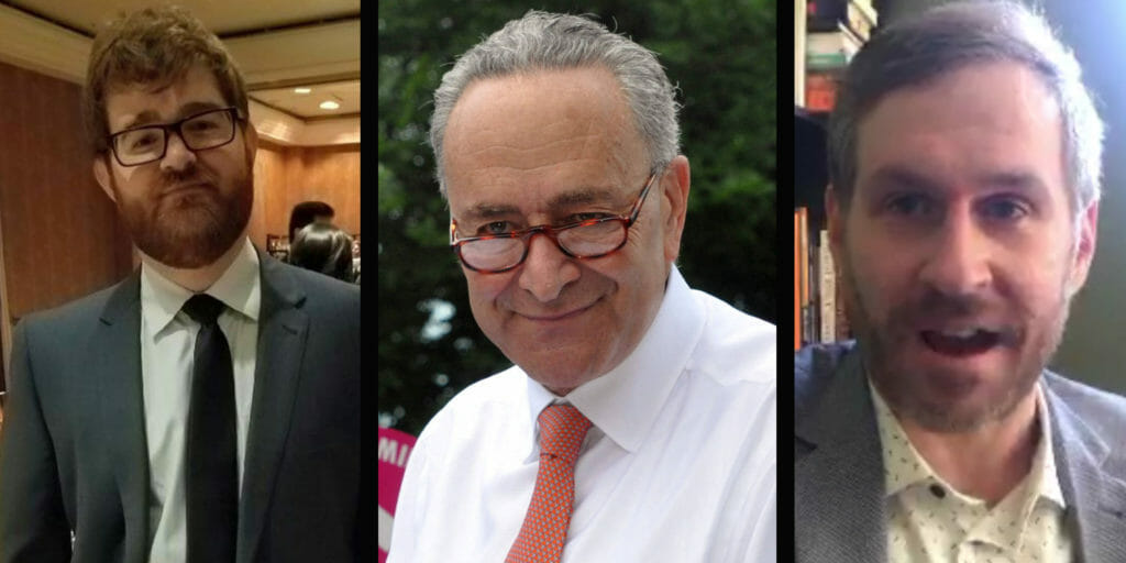 Mike Cernovich and Charles Johnson, two far-right media personalities, hyped up what they thought would be a big Chuck Schumer story. Turns out it was fake.