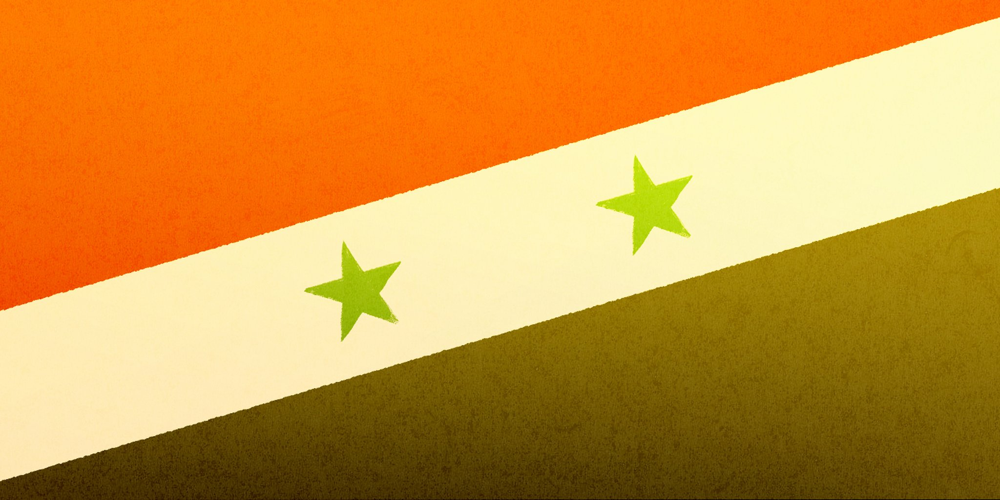 abstract art of syrian flag
