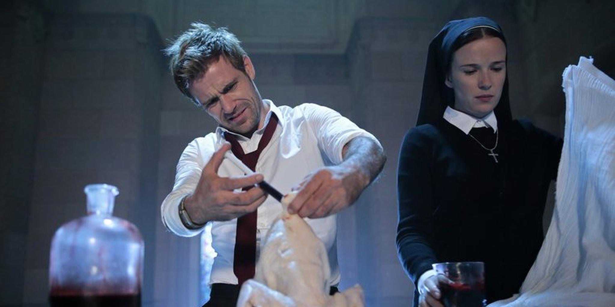 Matt Ryan as Constantine Injecting Chicken