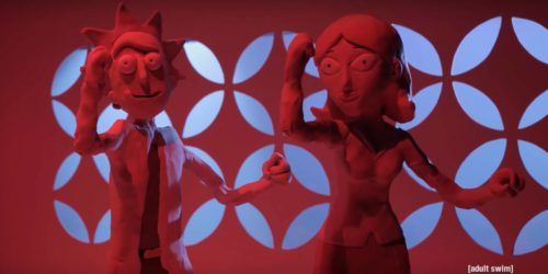 Claymation Rick and Morty