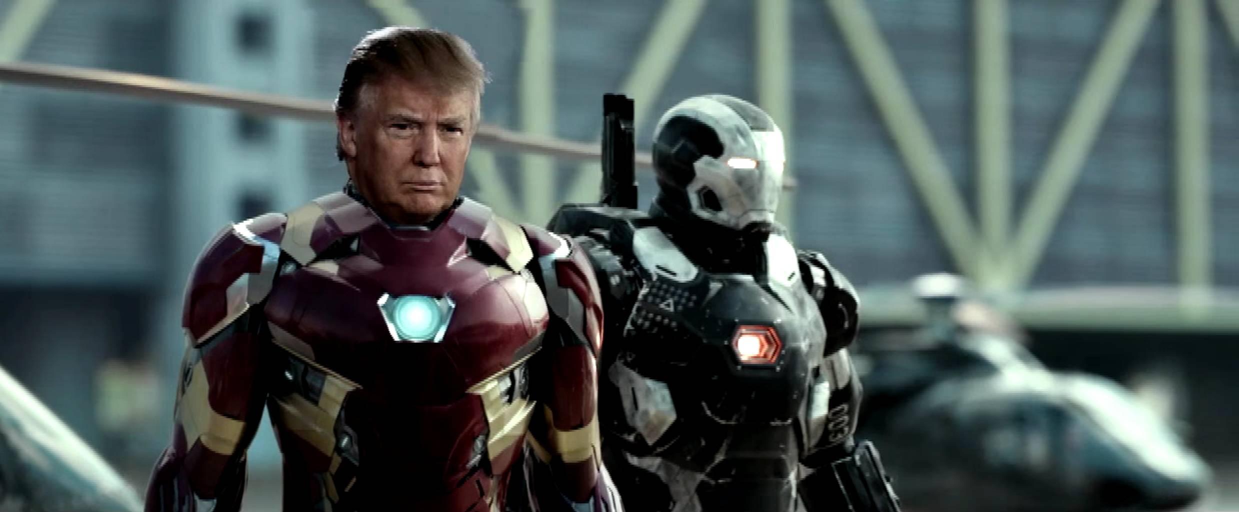 trump iron man
