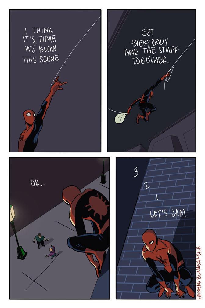 Hannah Blumenreich's Spider-Man fanart explores Spidey's