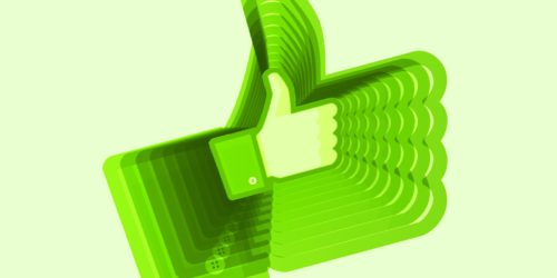Green Facebook Like Icon Scaled larger with tail