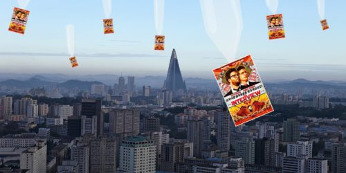 Interview DVDs airdropped on North Korea