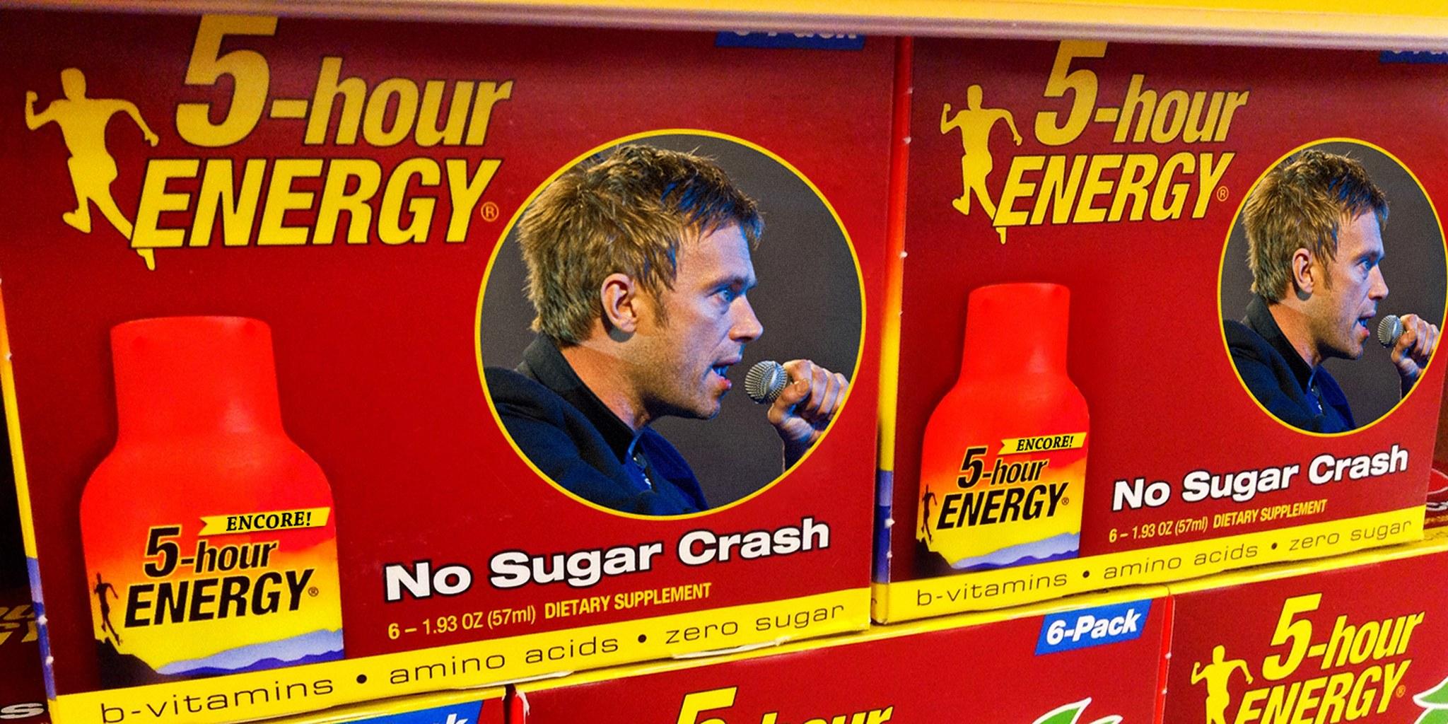 Blur lead singer on 5-hour energy box