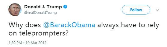 Donald Trump old tweet