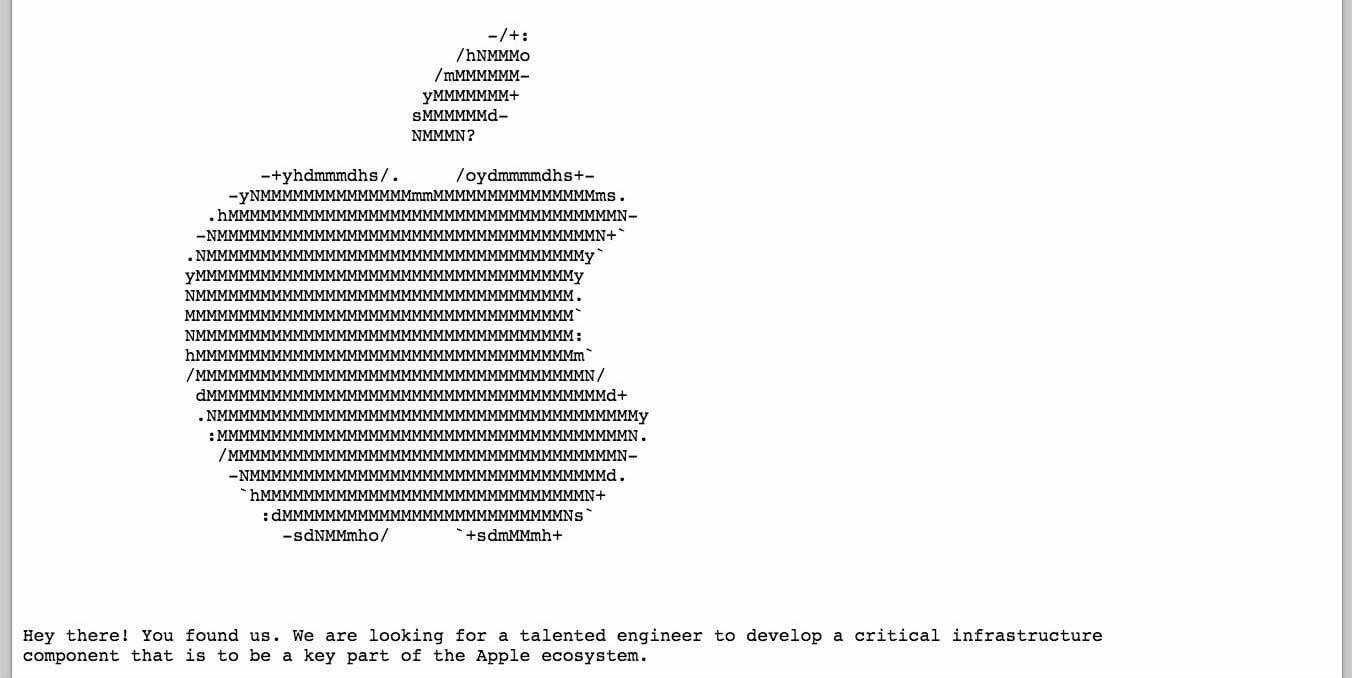 apple hidden job listing