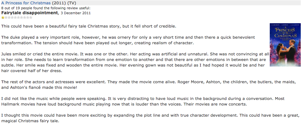 Imdb Reviewer Does Nothing But Complain About The Music In Hallmark