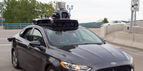self-driving Ford Fusion for Uber