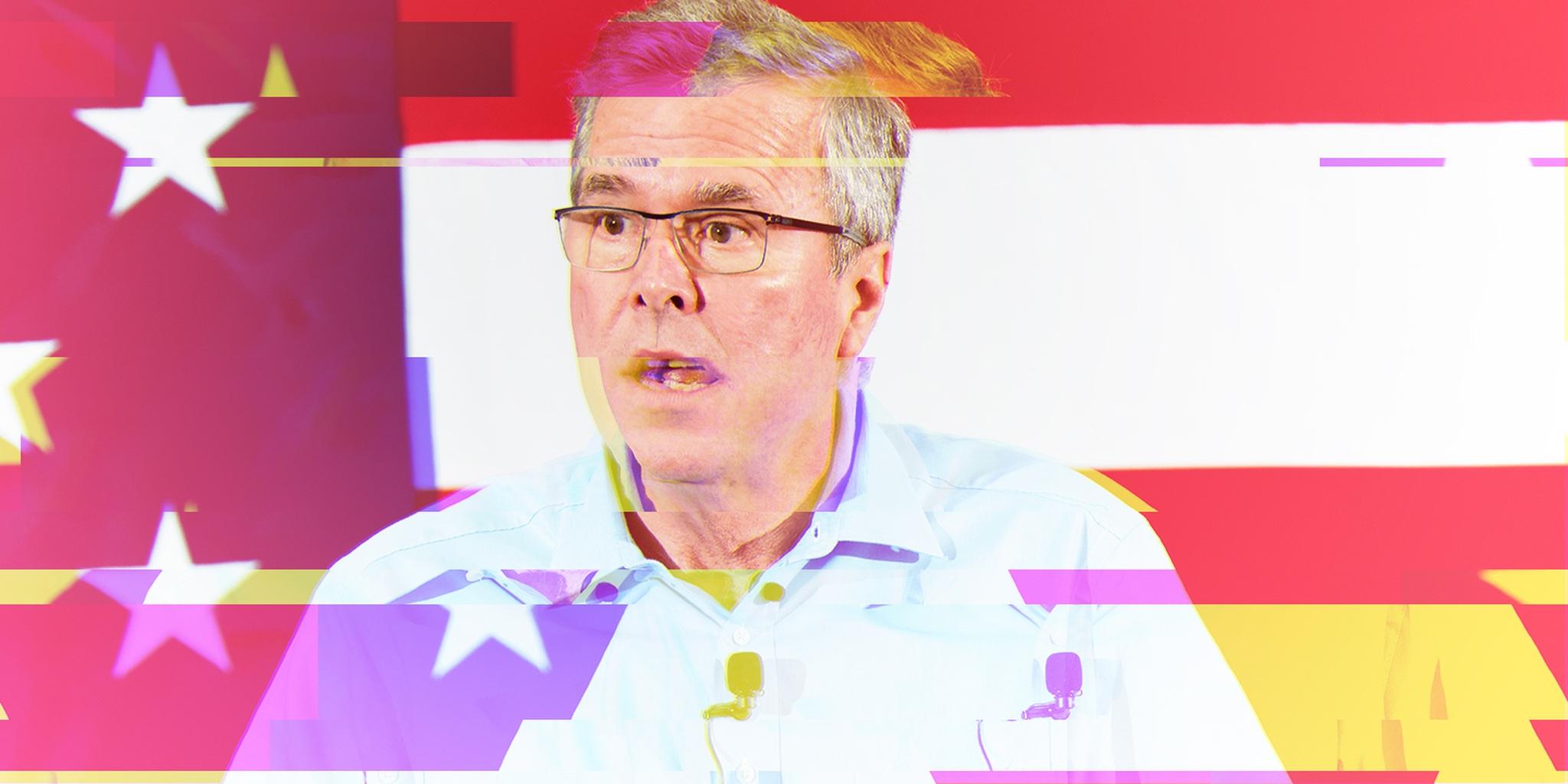 image of glitchy jeb bush