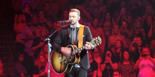 Justin Timberlake Singing and Playing Guitar